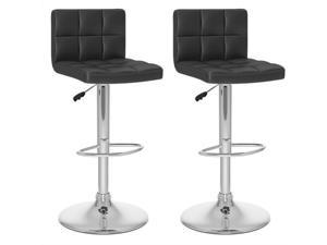 "Sonax Corliving 32"" High Back Bar Stool in Black (Set of 2)"