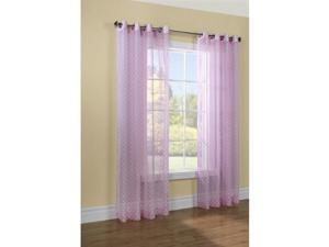 """Commonwealth Dots 84"""" Grommet Curtain Panel in Pink"""