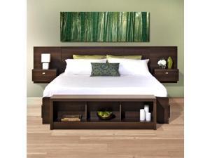 Prepac Series 9 Designer 2-Piece Bedroom Set in Espresso