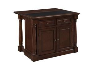 Home Styles Monarch Kitchen Island with Granite Top in Cherry