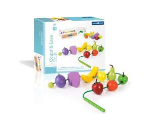 Guidecraft Manipulatives Count and Lace Fruit