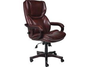 Serta Executive Office Chair in Brown Bonded Leather