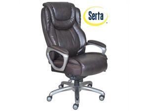 Serta by True Innovations Big & Tall Smart Layers Chair in Coffee