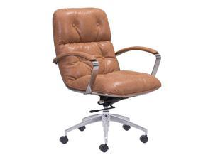 ZUO Avenue Office Chair in Vintage Coffee
