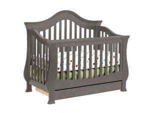 Million Dollar Baby Classic Ashbury 4-in-1 Convertible Crib in Manor Grey