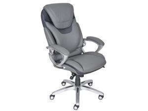 Serta AIR Executive Office Chair Grey Bonded Leather