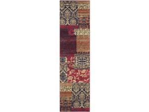 Safavieh MNC211F-28 Monaco Power Loomed Rectangle Rug, Multi, 2 ft. 2 in. x 8 ft.