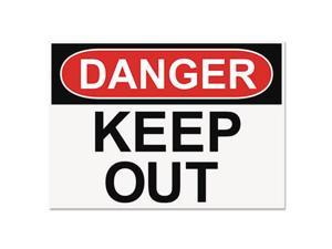 OSHA Safety Signs DANGER KEEP OUT White/Red/Black 10 x 14