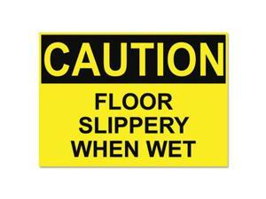 OSHA Safety Signs CAUTION SLIPPERY WHEN WET Yellow/Black 10 x 14