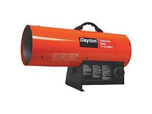 DAYTON 3VE57 Portable Gas Heater, LP, 70000/125000 BtuH
