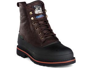 Work Boots, Stl, Mn, 7, Brn, 1PR G6633 7 M