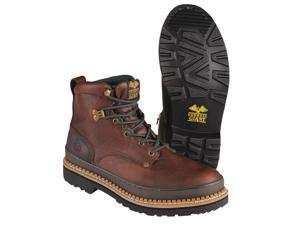 Work Boots, Stl, Mn, 12W, Brown, 1PR G6374 012 EE
