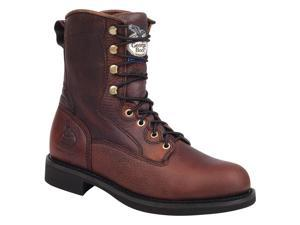Work Boots, Leather, 8 In, 8-1/2W, PR G008-8.5W