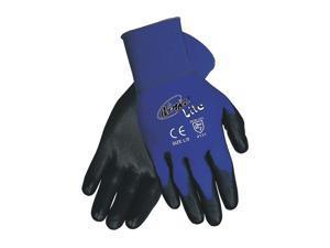 MEMPHIS GLOVE Coated Gloves, M, Black/Blue, PR N9696M