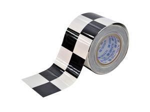 BRADY Aisle Marking Tape, 4In W, 100Ft L, Blk/Wht 121915