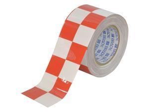 BRADY Aisle Marking Tape, 3In W, 100Ft L, Red/Wht 121917