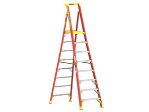 PD6208 8 ft. Type IA Fiberglass Podium Ladder