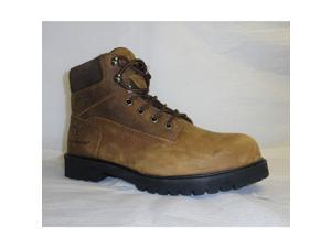 Work Boots, Plain Toe, 6In, Brown, 13, PR G-022504-1C-130