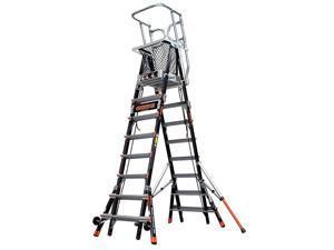Aerial Safety Cage Adjustable Platform Ladder, Little Giant, 18515-240