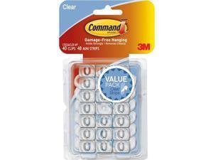 Command Clear Decor Clip 17026CLR-VP-40PK