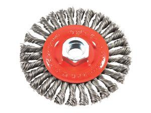 "Stringer Bead Twist 4"" x .020"" Wire Wheel Brush w/5/8""-11 Threaded Arbor Forney"