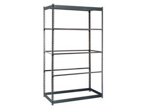 "EDSAL 48"" x 24"" x 84"" Freestanding Steel Shelving Unit,  Gray RS1505"