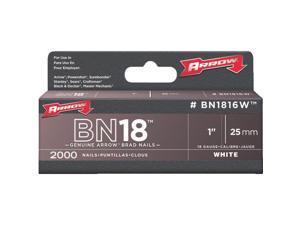 "Arrow Fastener 1"" White Brad BN1816WCS"