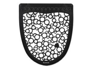 Urinal Mat 2.0, Rubber, 17 1/2 x 20, Black/White, 6/Carton UMBW