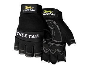 Cheetah 935CHFL Fingerless Gloves, X-Large, Black 935CHFLXL