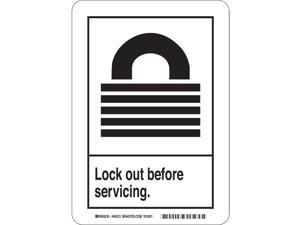 Safety Sign, 14 x 10 In., Self-Adhes. 45150