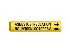 Pipe Marker, Asbestos Insulation, Yellow 4009-B