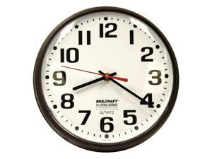 ABILITY ONE Wall Clock, Electric w 5' UL Rated Cord 6645-00-514-3523