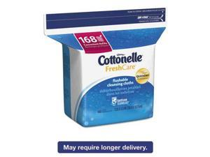 Fresh Care Flushable Cleansing Cloths, White, 5 x 7 1/4, 168/Pack 10358EA