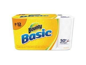 Basic Paper Towels, 5 9/10 x 11, 1-Ply, 66/Roll, 8 Roll/Pack 92966