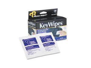 KeyWipes Keyboard & Hand Cleaner Wet Wipes 5 x 6 7/8 18/Box