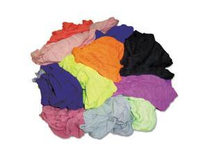 Polo T-Shirt Rags, Assorted Colors, 10 Pounds/Bag 245-10