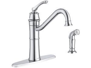Moen Inc 1h Chr Kt Faucet with Spray 87999