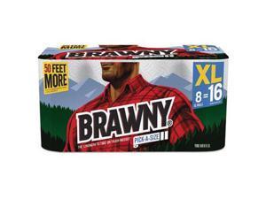 Brawny® Towel,Prt,156/32/8xl,Wh 439645