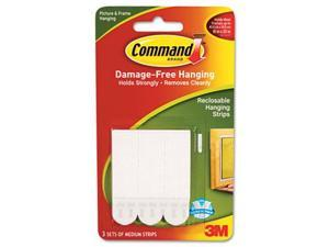 Command Adhesive,Fstnr,Med,3pk,Wh 17201ES