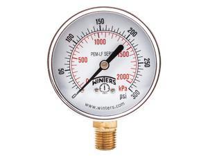 WINTERS PCT324LF Gauge, Pressure, 0 to 160 psi, 4-1/2 in.