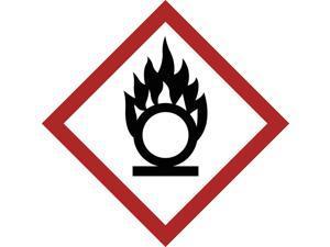 BRADY Label, GHS Oxidizing, Paper, 16/Sheet 118882