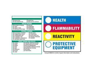 BRADY HMIG Label, 6 In. H, 6 In. W, PK100 60336