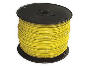 Building Wire, THHN, 12 AWG, Yellow, 500ft