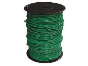 Building Wire, THHN, 10 AWG, Green, 500ft