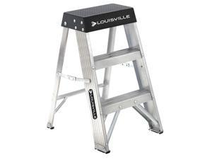 LOUISVILLE 2 ft. 300 lb. Load Capacity Aluminum Stepladder AS3002