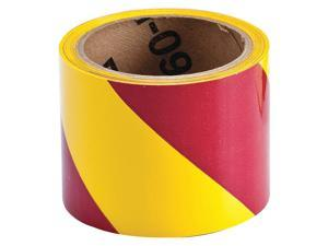 "Magenta/Yellow Safety Warning Tape, Brady, 553143""W"