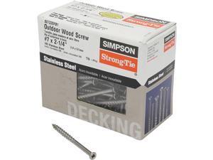 Stainless Steel Hand Drive Trim Head Screw-1LB 7X2-1/4 TRIM SCREW