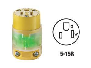 Leviton 15a Yellow Grd Connector R50-515CV-LIT