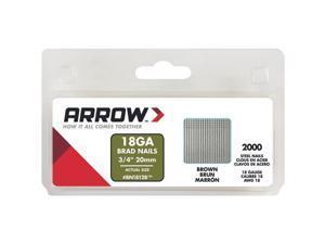 "Arrow Fastener 3/4"" Brown Brad BN1812BCS"