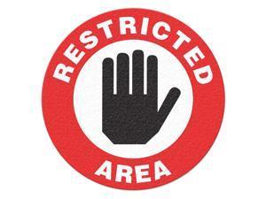 INCOM MANUFACTURING Safety Floor Sign, Restricted Area FS1025V